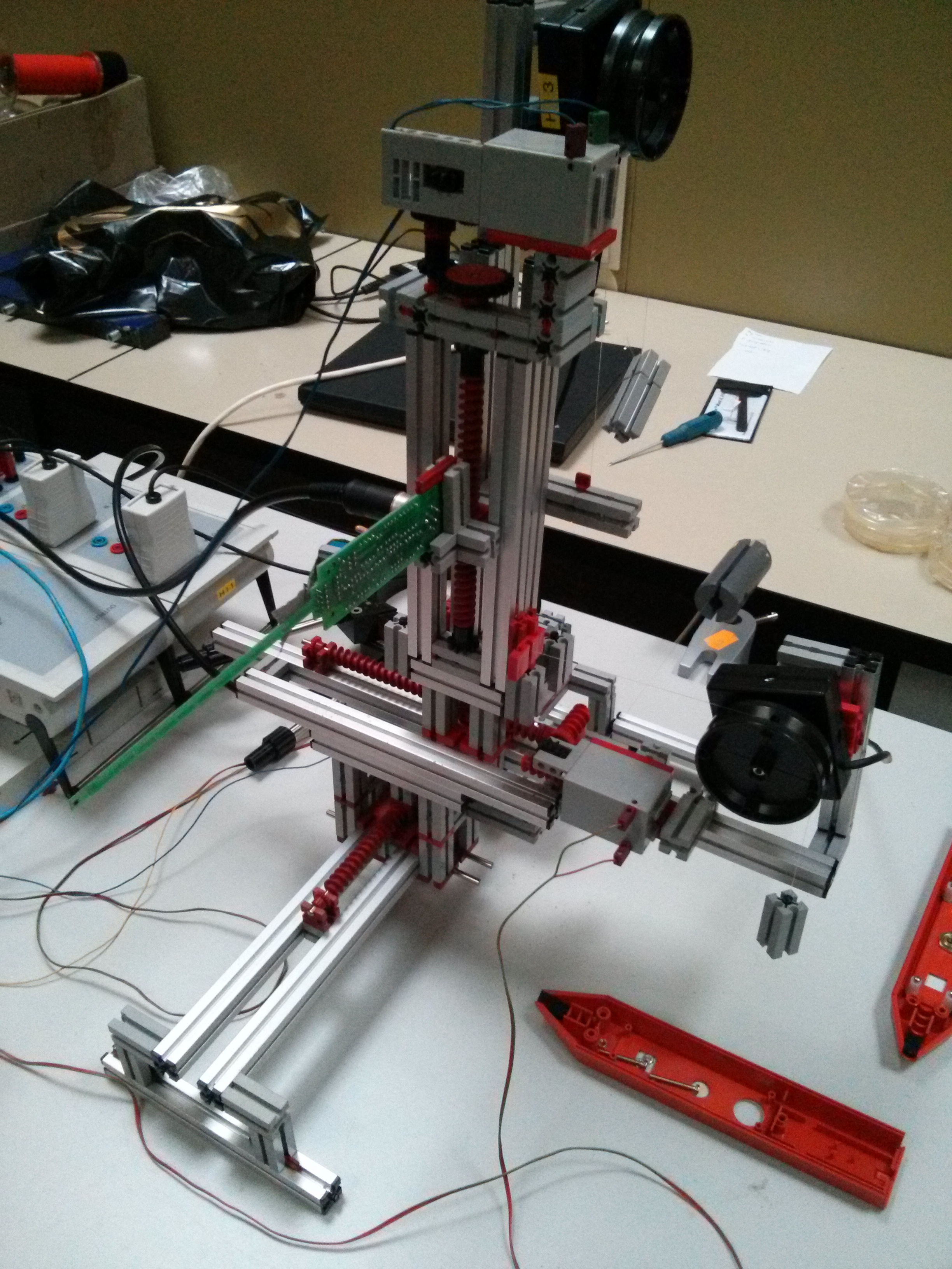 Aufbau für Jugend forscht mit Sensoren